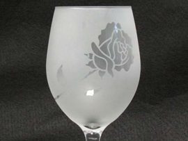 Rose Etched Glass