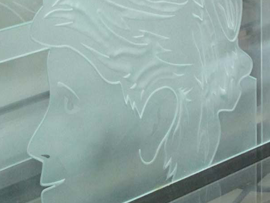Glass Etched Face