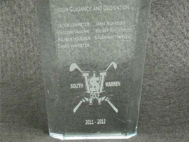 Glass Etched Trophy